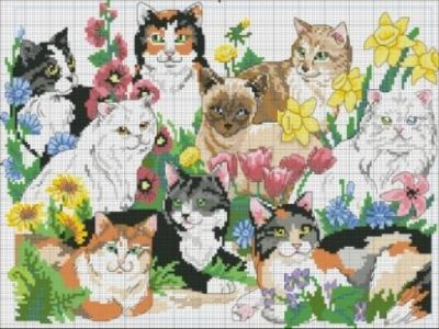 Dimensions 03726 Garden Cats